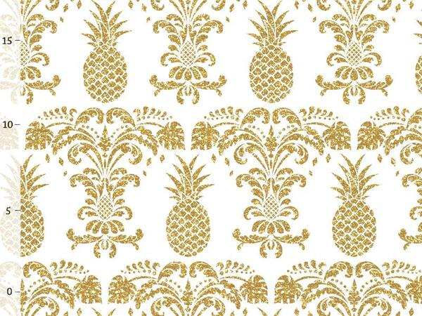 Bio-Jersey ANANAS summer, gold fake-Glitzer, by Bio-Box