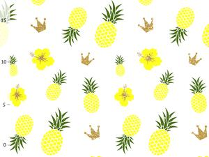Bio-Jersey ANANAS summer, Hawai Blumen, by Bio-Box