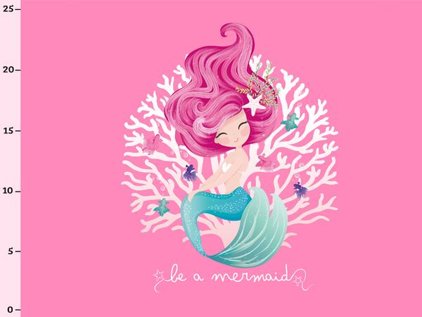Bio-Jersey be a mermaid Meerjungfrau PANEL, merbeauty by...