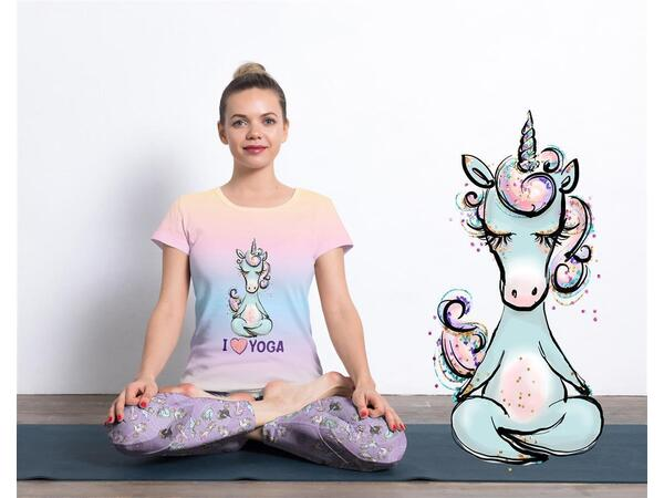Bio-Jersey Panel I SWEAT RAINBOWS Yogahorn Yoga Einhorn, by Bio-Box