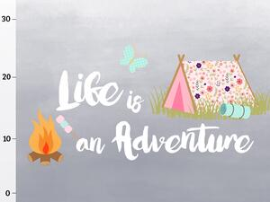 Bio-Jersey, Life is an adventure XL Panel, Happy Camper...