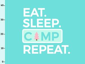 Bio-Jersey, eat sleep camp repeat XL Panel, Happy Camper...