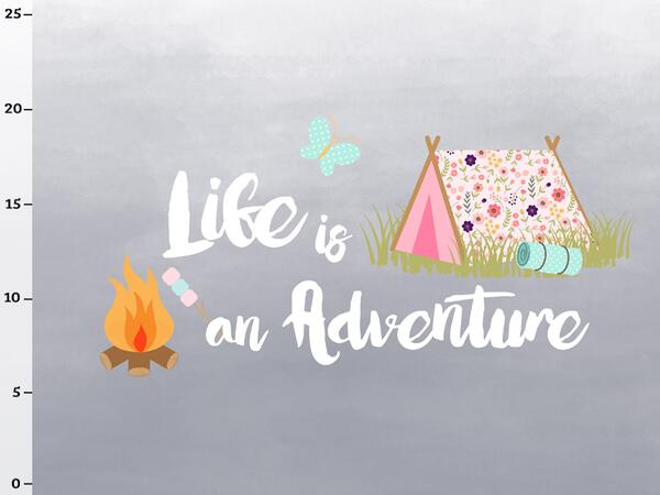 Bio-Jersey, life is an adventure Panel, Happy Camper II, by BioBox