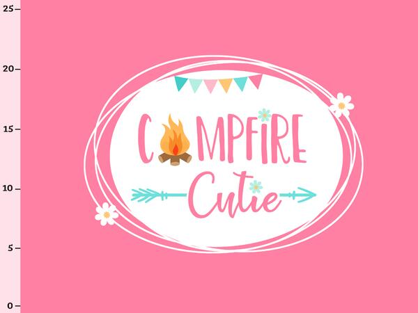 Bio-Jersey, campfire cutie Panel, Happy Camper II, by...