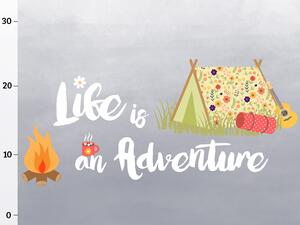 Bio-Jersey Panel, life is an adventure XL Panel, Happy...