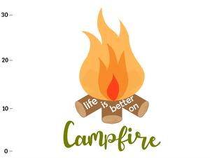 Bio-Jersey Panel, life is better on campfire XL Panel,...