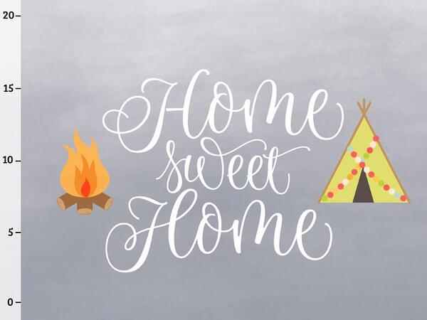 Bio-Jersey Panel, home sweet home Panel, Happy Camper II,...