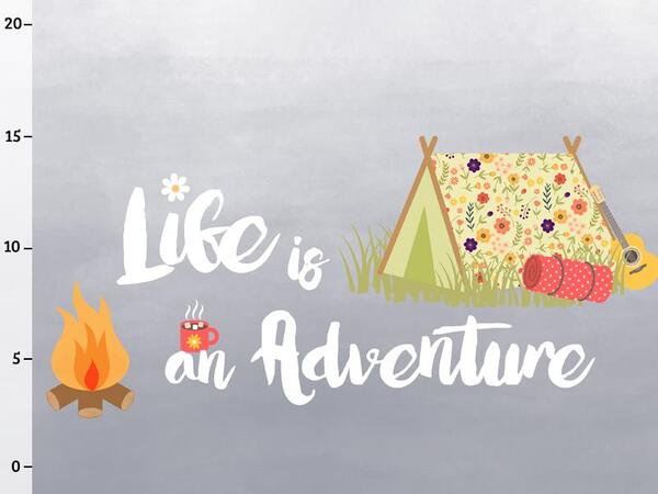 Bio-Jersey Panel, life is an adventure Panel, Happy...