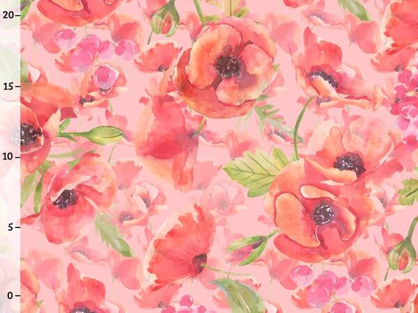 Bio-Jersey, Mohn watercolor - Klatschmohn Liebe, by...