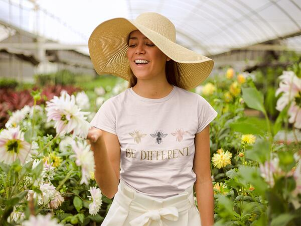 Bio-Jersey Bienen auf rosa, bee yourself, Jersey by Bio-Box