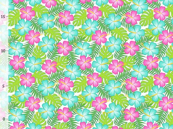 Bio-Jersey Blumen Blätter, Tropical Party, Jersey by Bio-Box