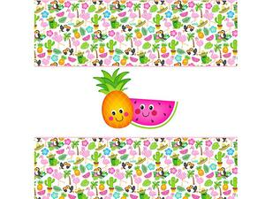 Bio-Jersey freche Früchte PANEL, Tropical Party by Bio-Box