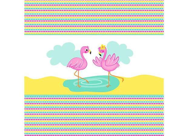 Bio-Jersey Flamingo PANEL, Tropical Party by Bio-Box
