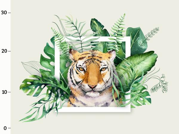 Bio-Jersey, Tigerkopf XL Panel, Wild Tiger, by BioBox,...