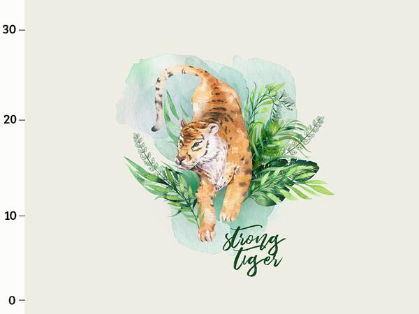 Bio-Jersey, Strong Tiger PANEL, wild tiger, by Bio-Box