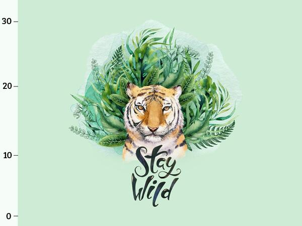 Bio-Jersey, Stay Wild PANEL, wild tiger, by Bio-Box