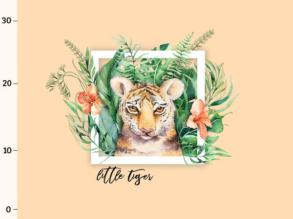 Bio-Jersey, Little Tiger PANEL, wild tiger, by Bio-Box