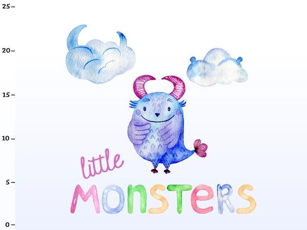 Bio-Jersey little monsters Panel, Monsterstark by Bio-Box