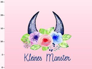 Bio-Jersey Kleines Monster Panel, Monsterstark, by Bio-Box