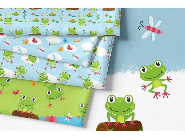 Bio-Jersey, Sommerglück Frosch Panel, Funny Frog, by BioBox