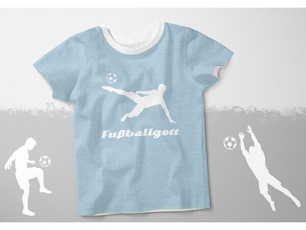 Bio-Jersey, Fußballgott Panel, Jeans Shadows, by BioBox