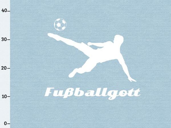 Bio-Jersey XL Panel Fußballgott Panel, Jeans Shadows, by...
