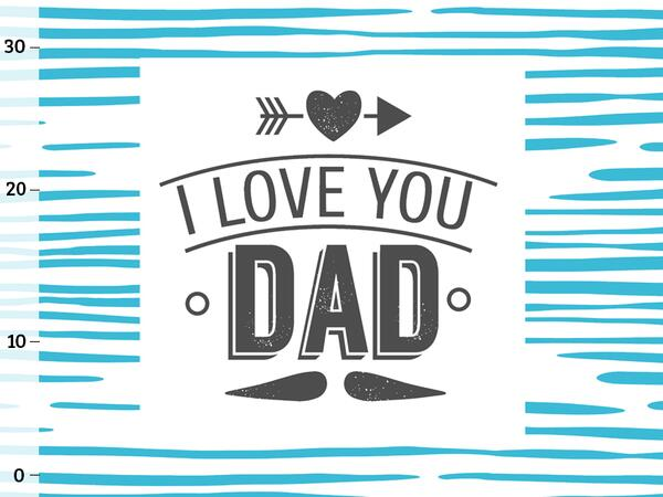 Baumwoll-Popeline, I love you dad PANEL, SuperPapa, by...