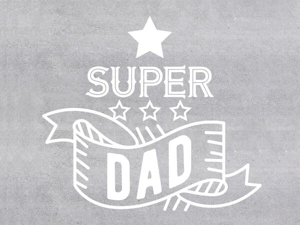 Baumwoll-Popeline, Panel, Super Dad, BETONSTYLE, SuperPapa, by BioBox