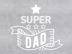 Baumwoll-Popeline, Panel, Super Dad, BETONSTYLE,...