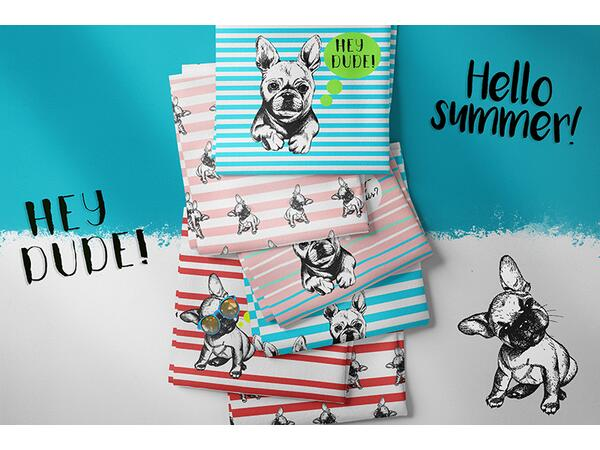 Bio-Jersey XL Panel, Frenchie dude, French bulldog by Bio-Box
