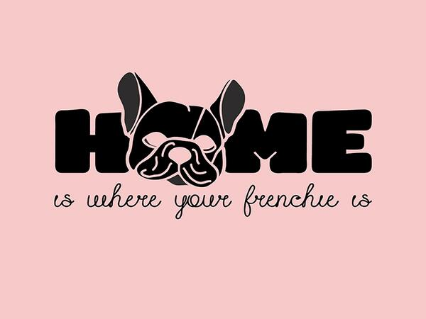 Bio-Jersey, home is where your Frenchie is, French bulldog by BioBox