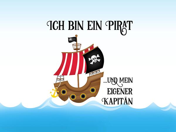 Bio-Jersey, Ich bin ein Pirat PANEL, Piraten Ahoi by...
