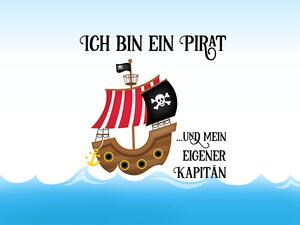 Bio-Jersey, Ich bin ein Pirat PANEL, Piraten Ahoi by BioBox