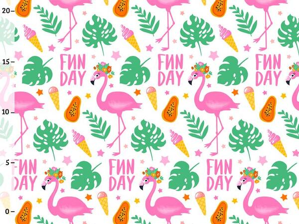 Bio-Jersey, Fun Day, Tropical Flamingo, Bio-Box, Ökotex