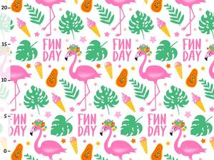 Bio-Jersey, Fun Day, Tropical Flamingo, Bio-Box