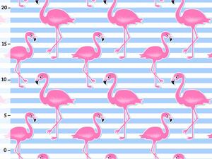 Bio-Jersey, Flamingo Streifen, Tropical Flamingo, Bio-Box