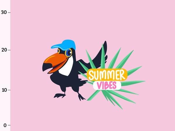 Bio-Jersey, Summer Vibes PANEL, Tropical Flamingo by...