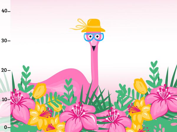 Bio-Jersey, Mrs Flamingo PANEL, Tropical Flamingo by...