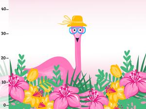 Bio-Jersey, Mrs Flamingo PANEL, Tropical Flamingo by BioBox