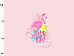 Bio-Jersey, Summer Flamingo PANEL, Tropical Flamingo by...