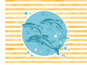 Bio-Jersey, Delfin stripes PANEL, DelfinLiebe by BioBox
