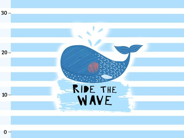 Bio-Jersey, Ride the wave PANEL, Sea Party by BioBox, ÖKOTEX