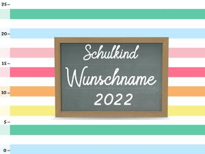 Bio-Jersey WUNSCHNAME Panel Einschulung colored stripes,...