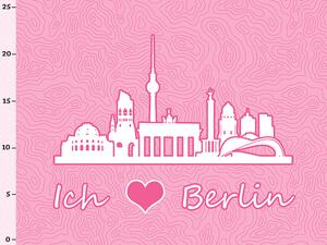 Bio-Jersey BERLIN XL Panel rosa - Städte-Kollektion by...