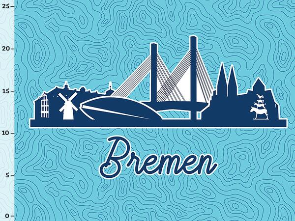Bio-Jersey BREMEN XL Panel blau - Städte-Kollektion by...