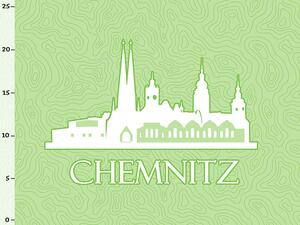 Bio-Jersey Chemnitz XL Panel grün - Städte-Kollektion by...