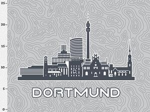 Bio-Jersey Dortmund XL Panel grau - Städte-Kollektion by...