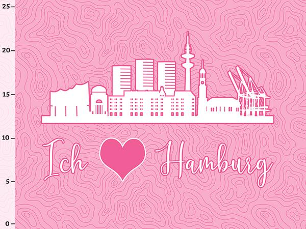 Bio-Jersey Hamburg XL Panel rosa - Städte-Kollektion by...