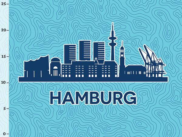 Bio-Jersey Hamburg XL Panel blau - Städte-Kollektion by...