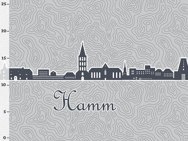 Bio-Jersey Hamm XL Panel grau - Städte-Kollektion by...
